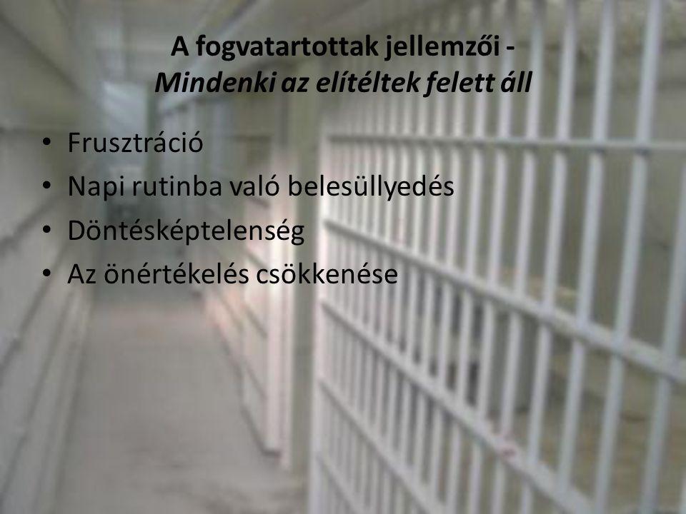 A fogvatartottak jellemzői - Mindenki az elítéltek felett áll