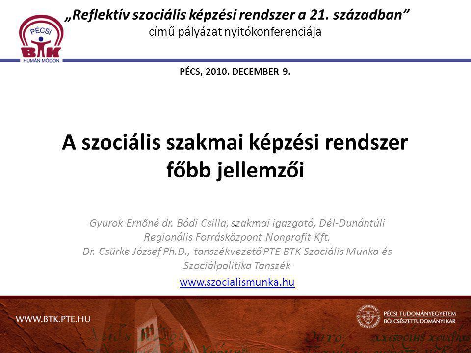 """""""Reflektív szociális képzési rendszer a 21"""