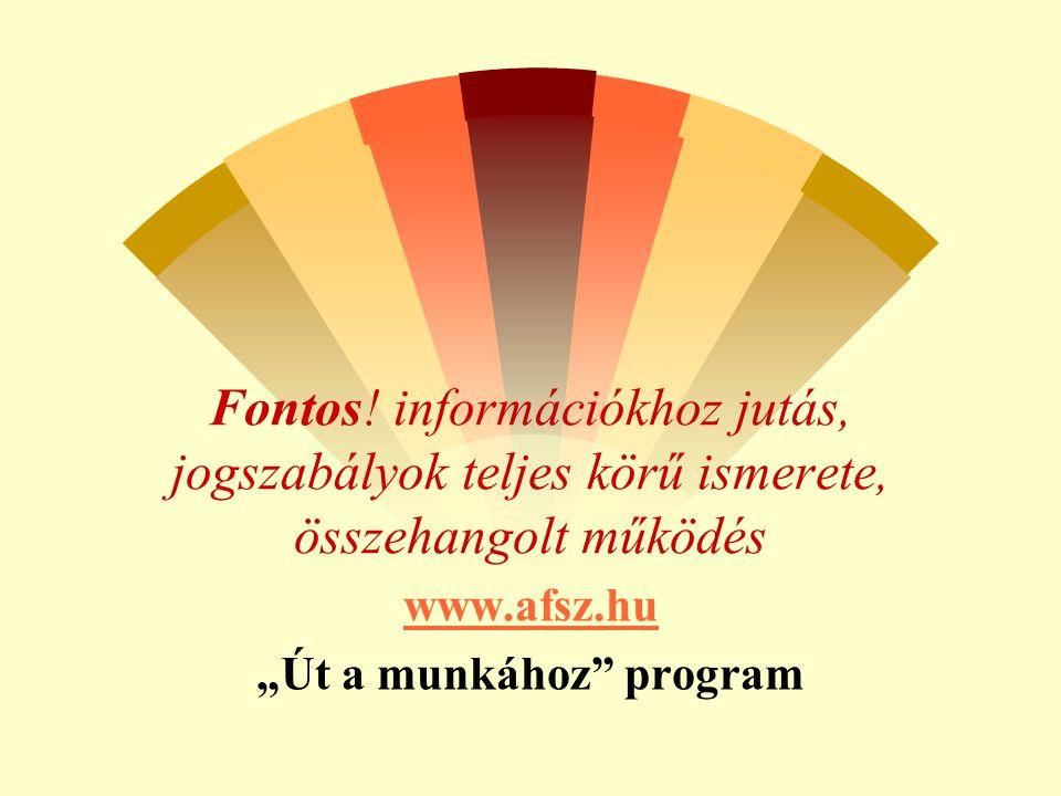 """www.afsz.hu """"Út a munkához program"""