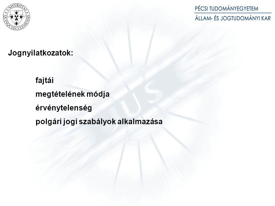 Jogpolitikai előzmények: