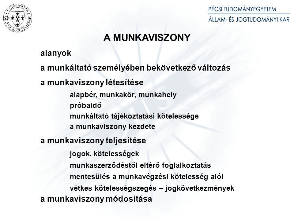 Bevezető rendelkezések: