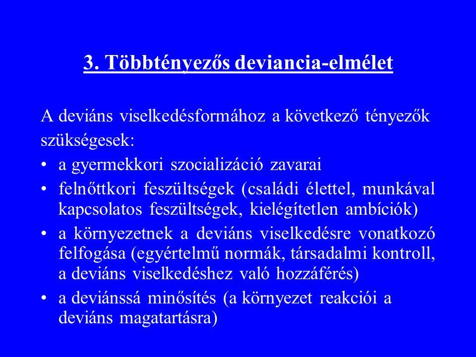 3. Többtényezős deviancia-elmélet