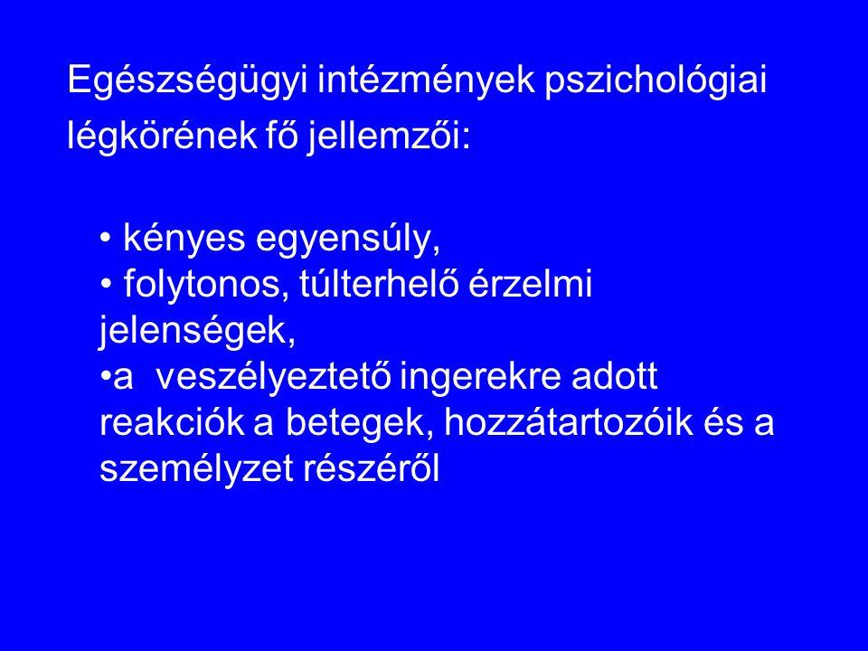 Egészségügyi intézmények pszichológiai