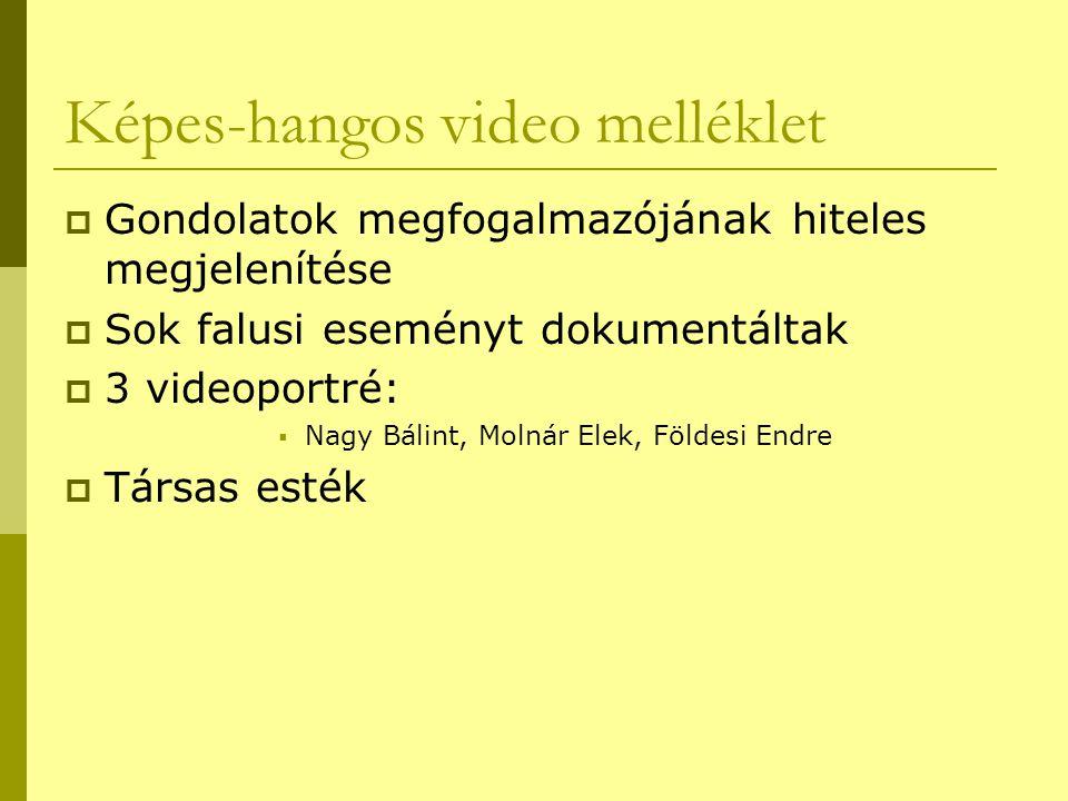 Képes-hangos video melléklet