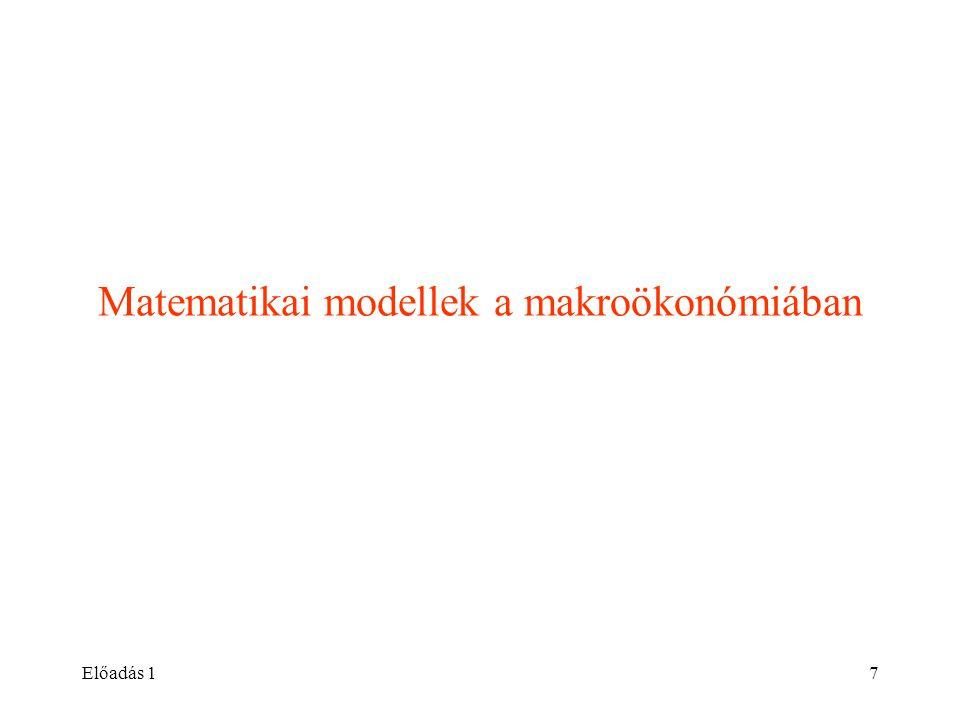 Matematikai modellek a makroökonómiában
