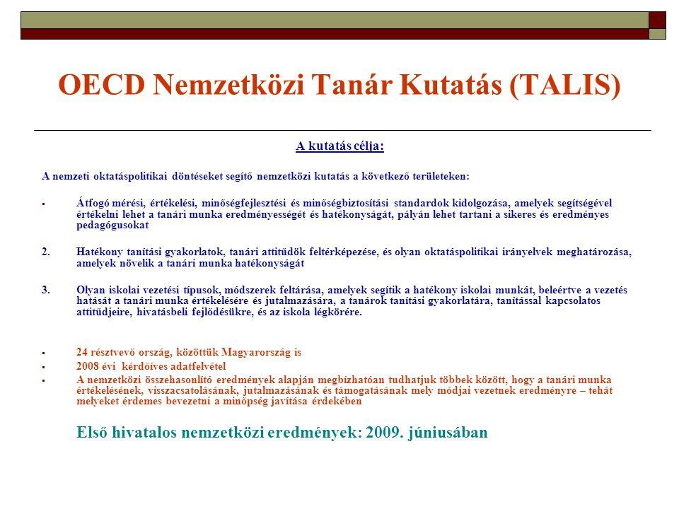 OECD Nemzetközi Tanár Kutatás (TALIS)