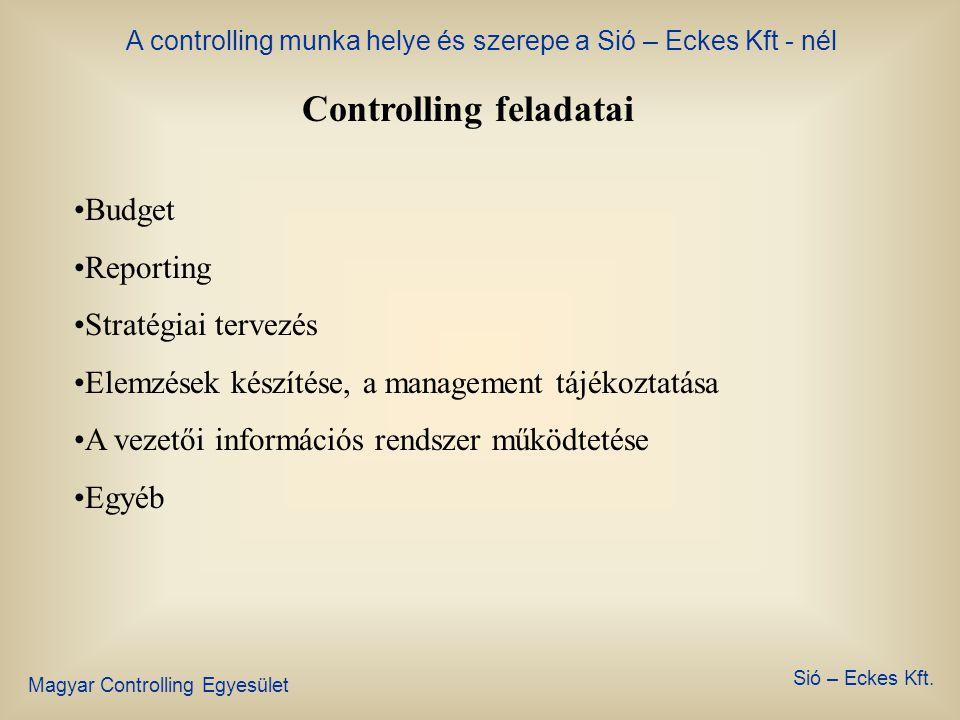 Controlling feladatai