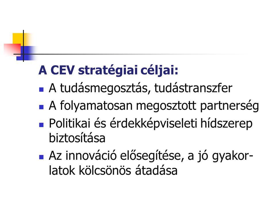 A CEV stratégiai céljai: