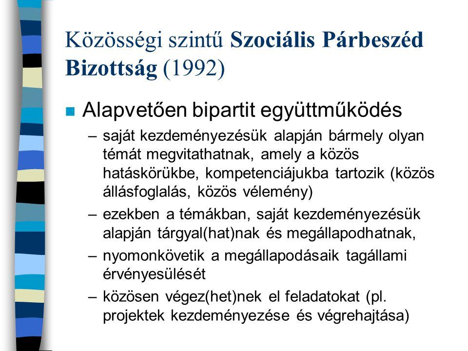 Közösségi szintű Szociális Párbeszéd Bizottság (1992)