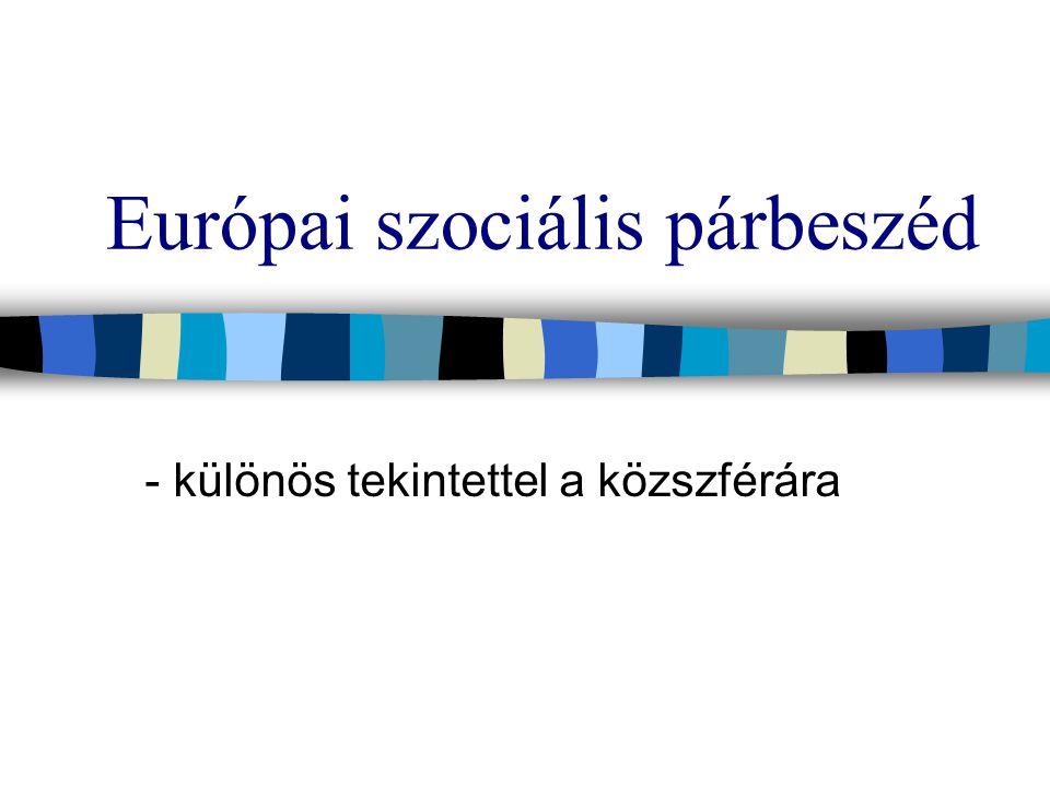 Európai szociális párbeszéd