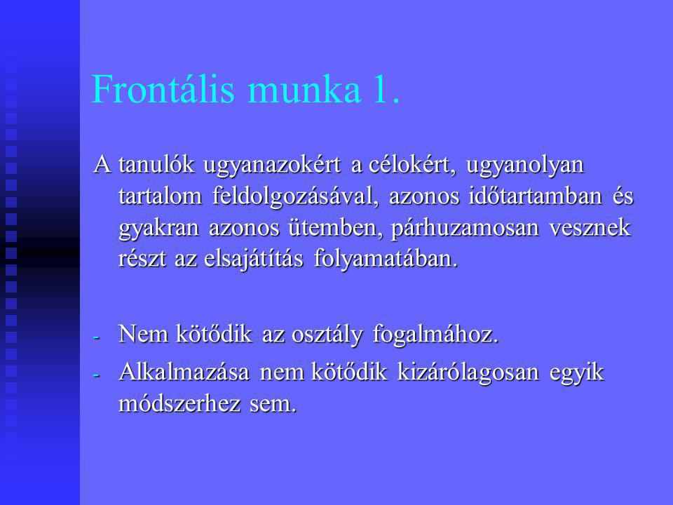 Frontális munka 1.