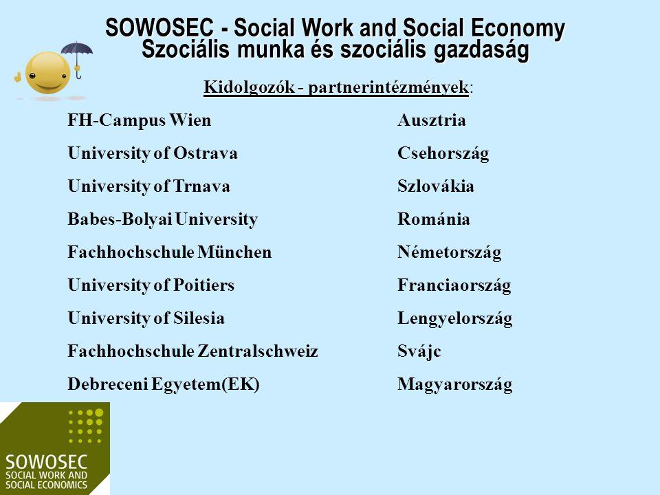 Kidolgozók - partnerintézmények: