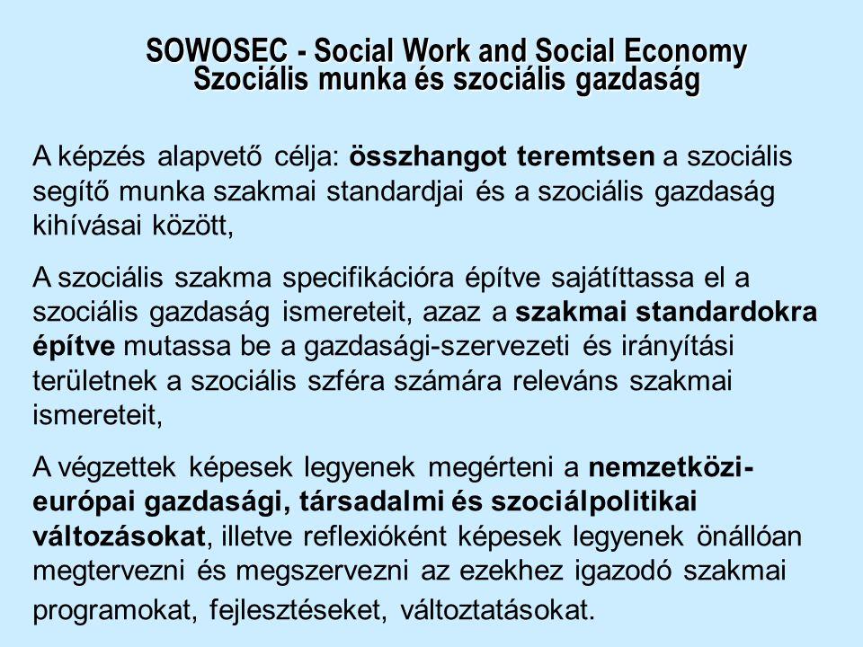SOWOSEC - Social Work and Social Economy Szociális munka és szociális gazdaság