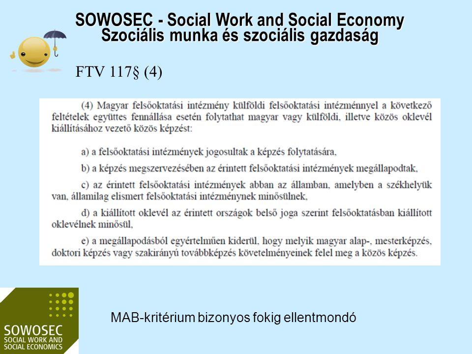 2017.04.03. SOWOSEC - Social Work and Social Economy Szociális munka és szociális gazdaság. FTV 117§ (4)
