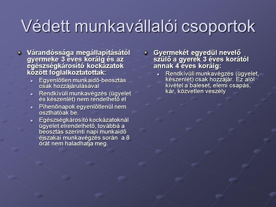 Védett munkavállalói csoportok
