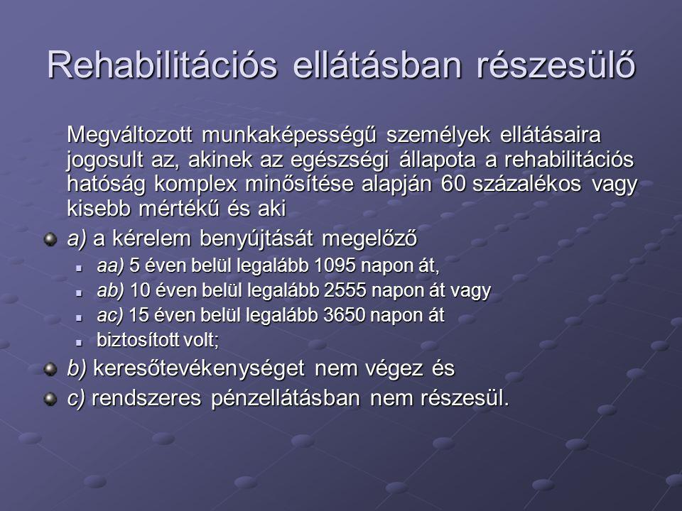 Rehabilitációs ellátásban részesülő