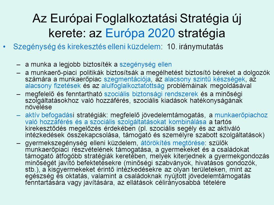 Az Európai Foglalkoztatási Stratégia új kerete: az Európa 2020 stratégia