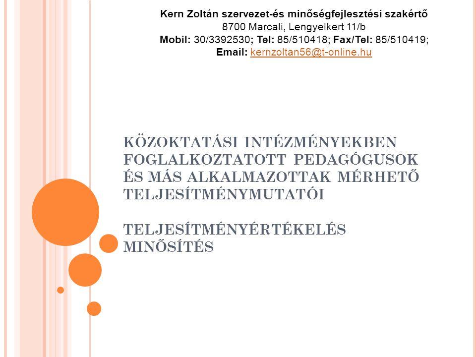 Kern Zoltán szervezet-és minőségfejlesztési szakértő
