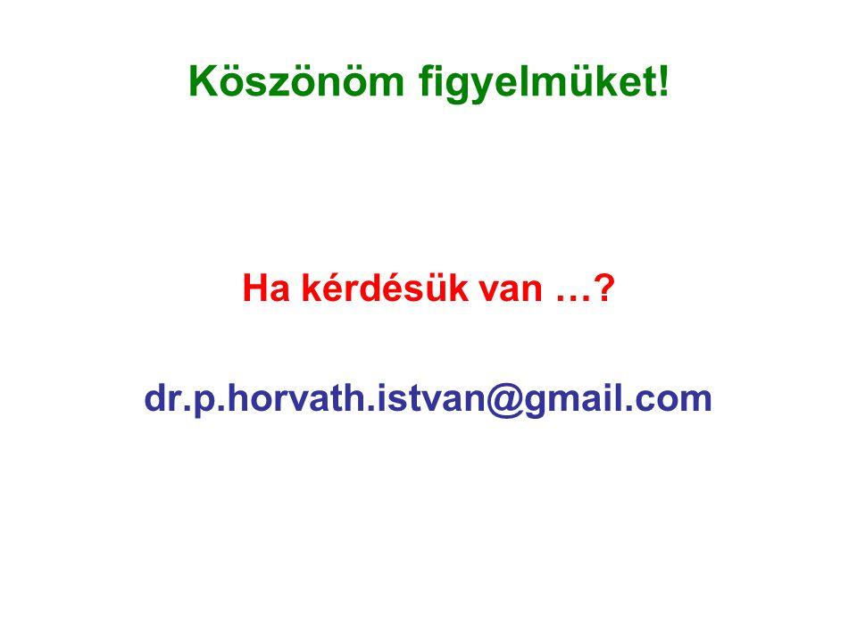 Köszönöm figyelmüket! Ha kérdésük van … dr.p.horvath.istvan@gmail.com