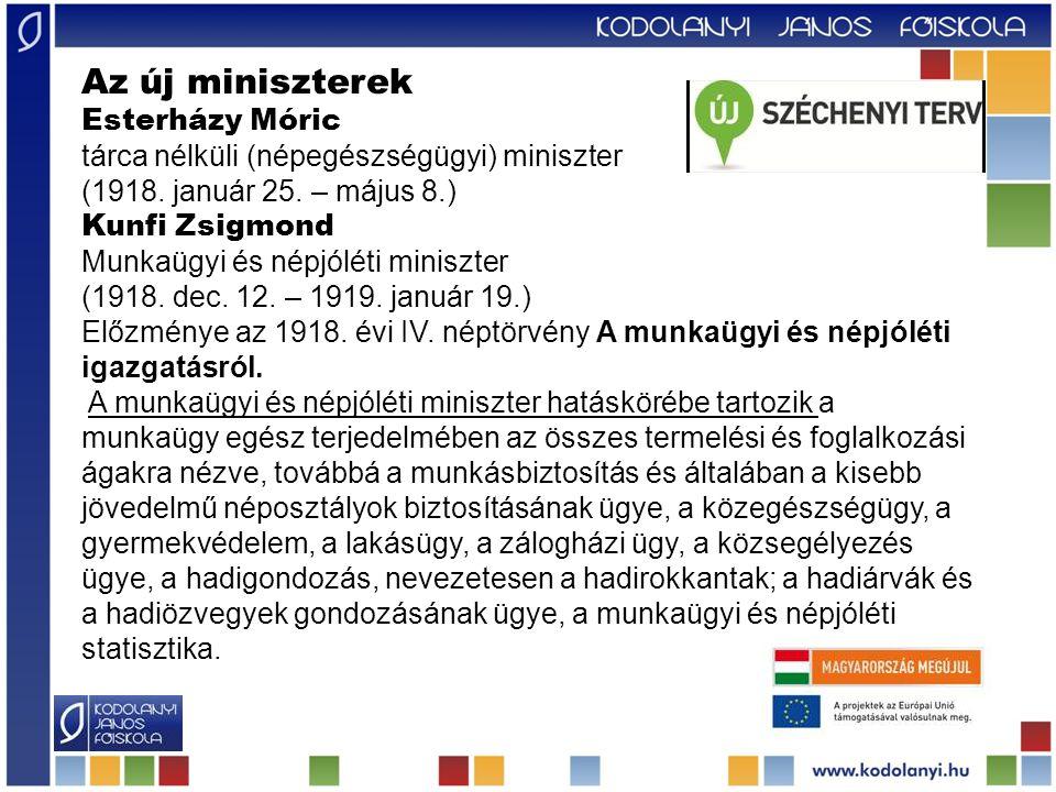 Az új miniszterek Esterházy Móric