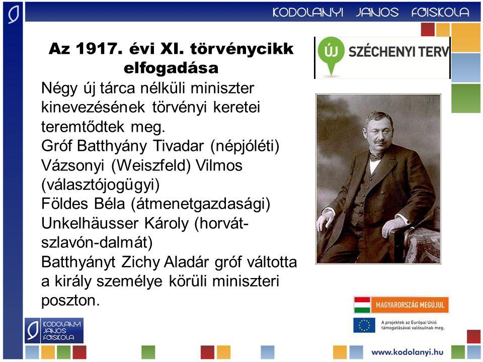 Az 1917. évi XI. törvénycikk elfogadása