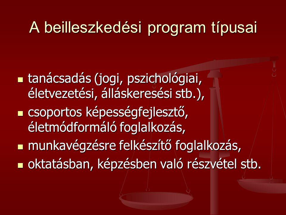 A beilleszkedési program típusai