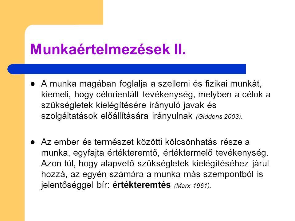 Munkaértelmezések II.
