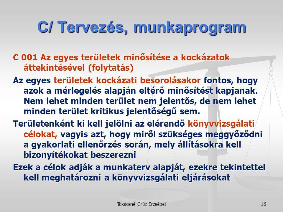 C/ Tervezés, munkaprogram