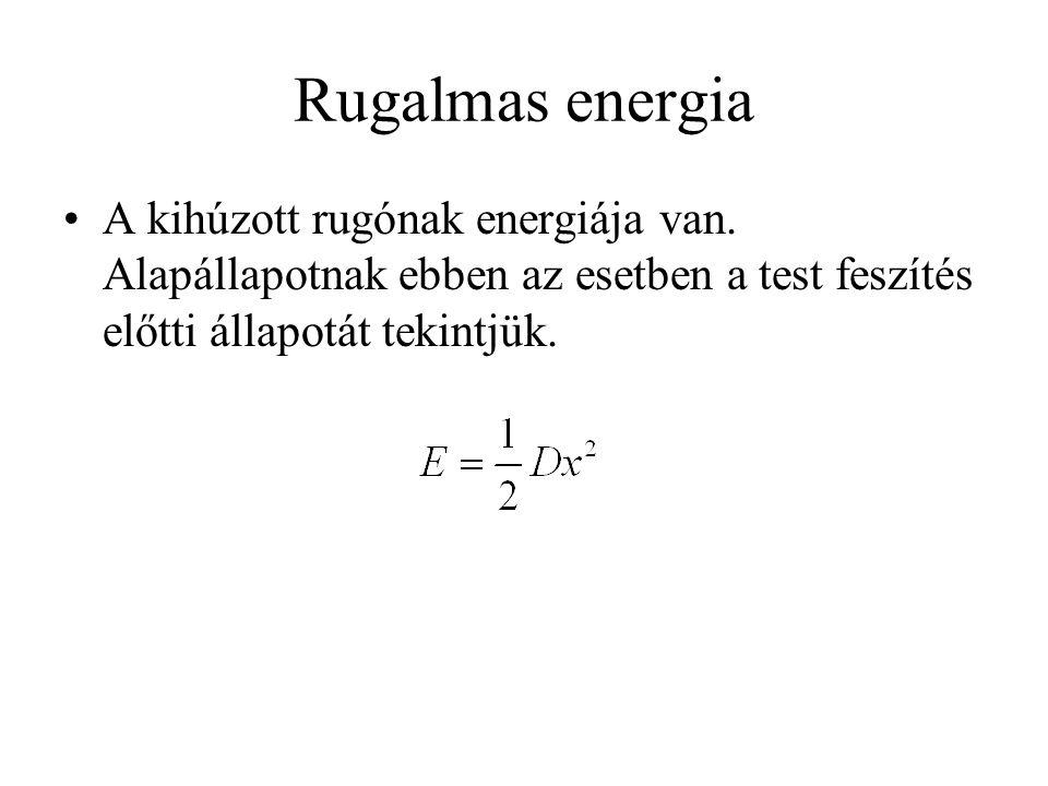 Rugalmas energia A kihúzott rugónak energiája van.