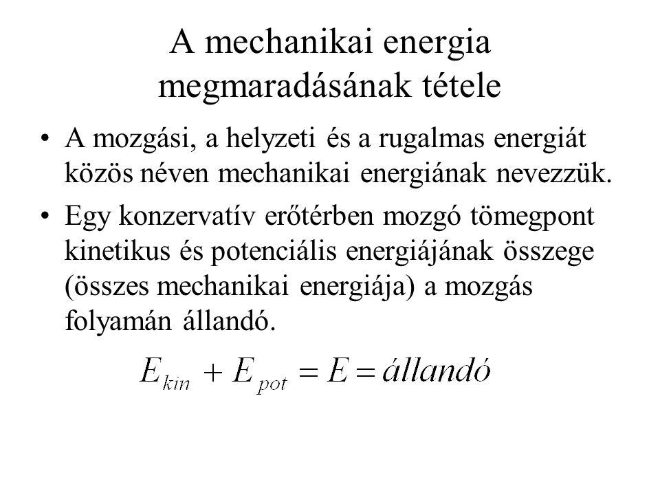 A mechanikai energia megmaradásának tétele