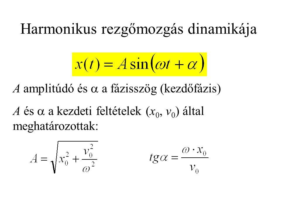 Harmonikus rezgőmozgás dinamikája