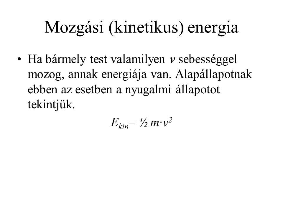Mozgási (kinetikus) energia