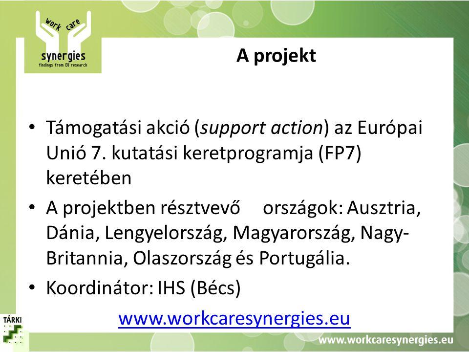 A projekt Támogatási akció (support action) az Európai Unió 7. kutatási keretprogramja (FP7) keretében.