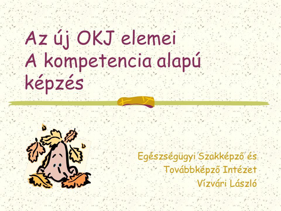 Az új OKJ elemei A kompetencia alapú képzés