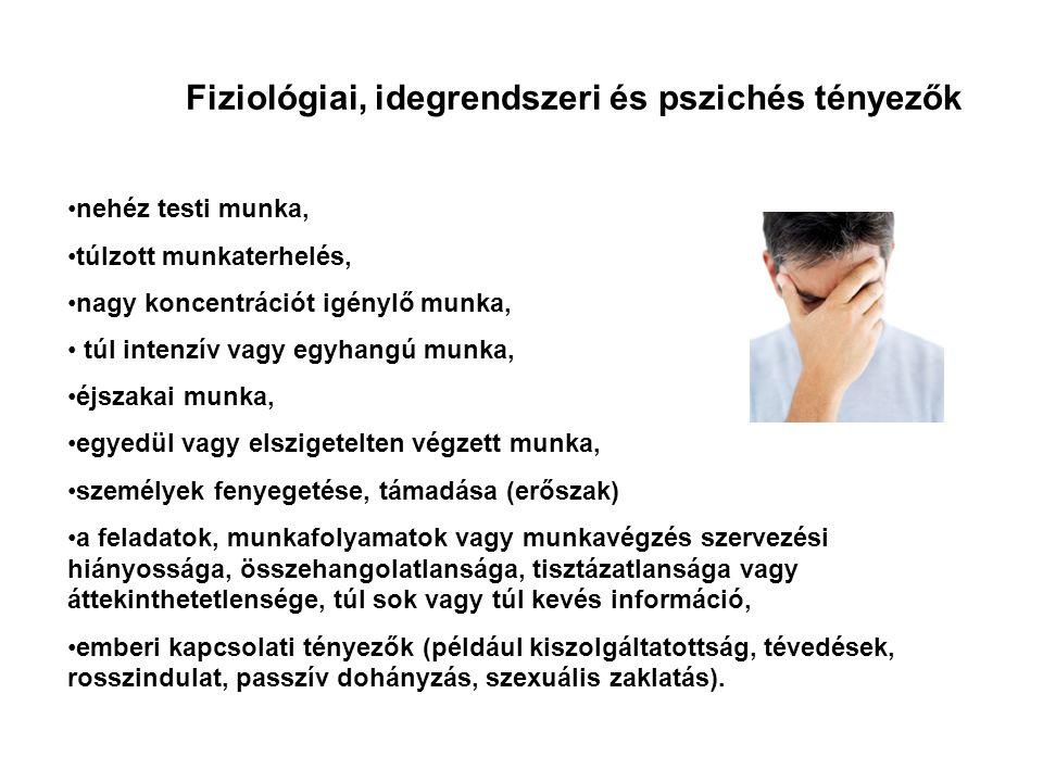 Fiziológiai, idegrendszeri és pszichés tényezők