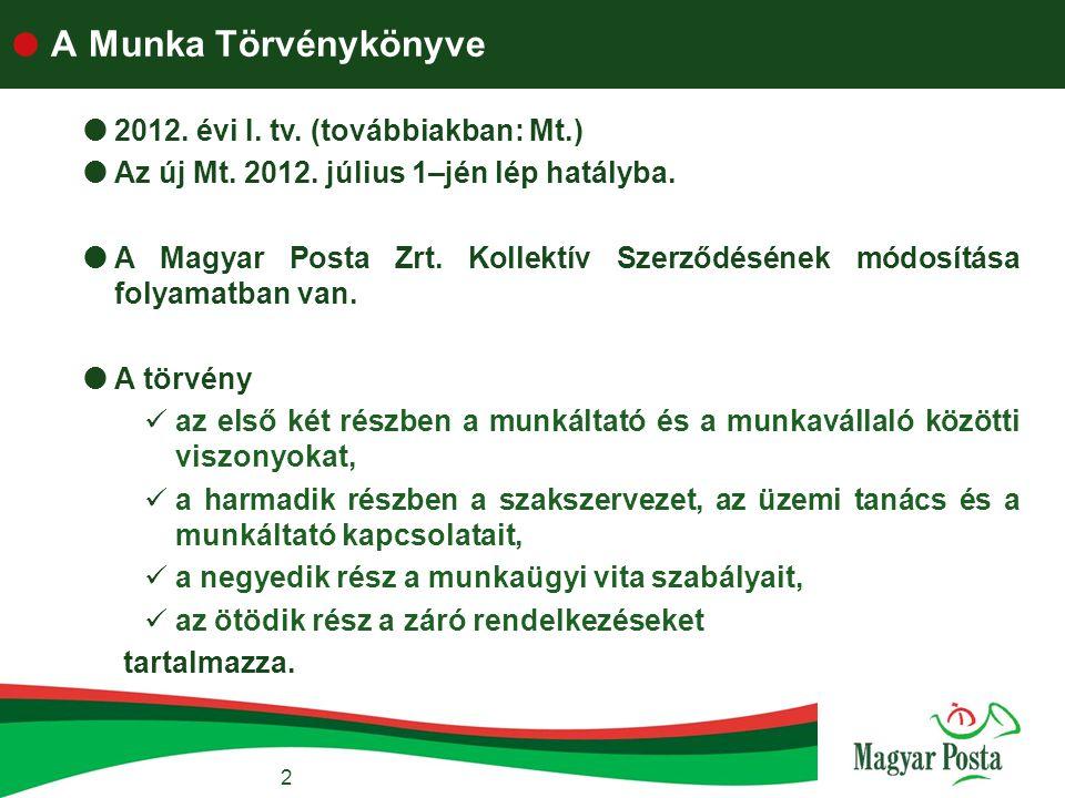 A Munka Törvénykönyve 2012. évi I. tv. (továbbiakban: Mt.)