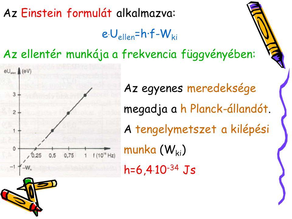 Az Einstein formulát alkalmazva: