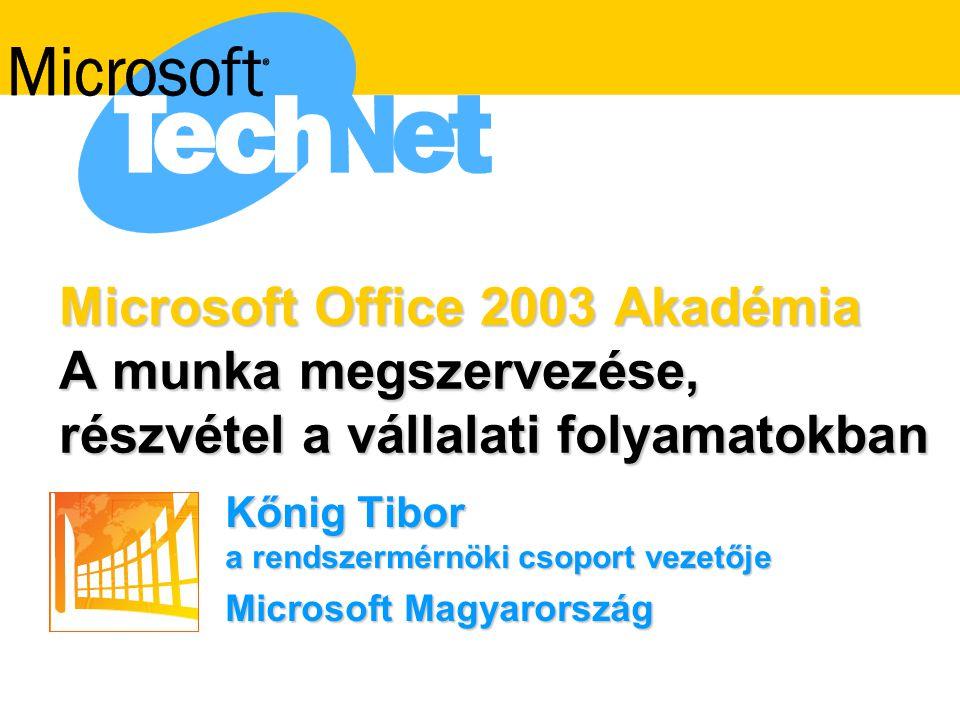 Kőnig Tibor a rendszermérnöki csoport vezetője Microsoft Magyarország
