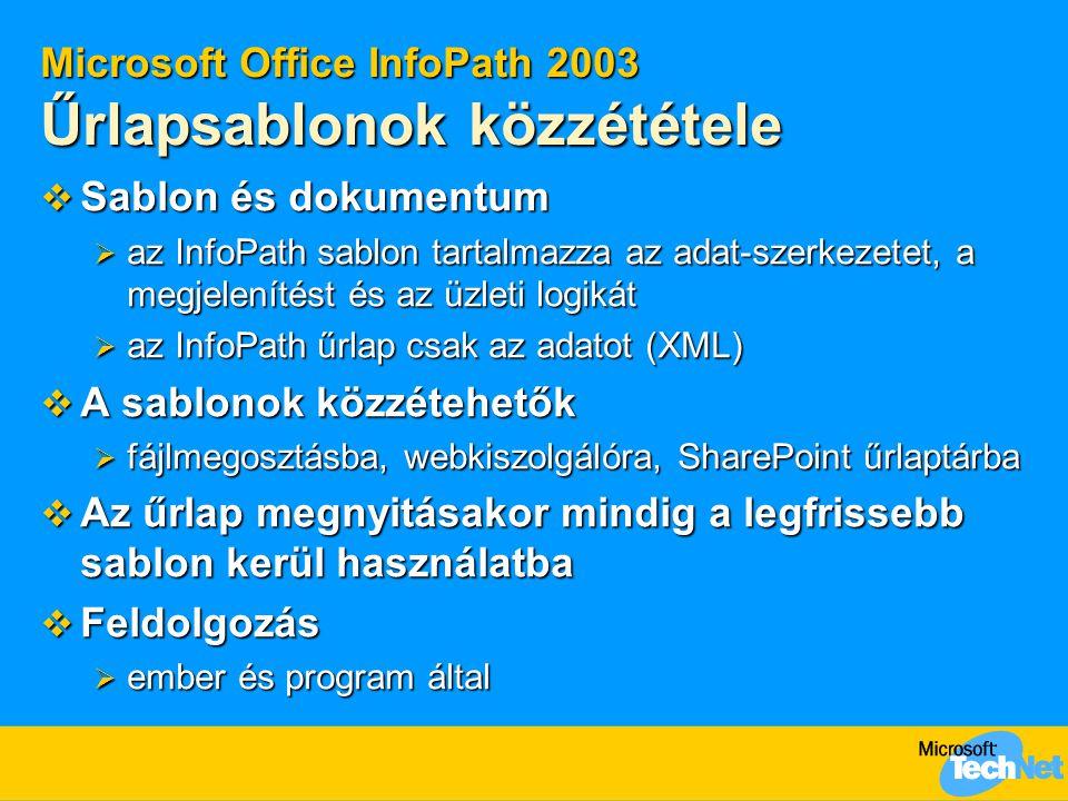 Microsoft Office InfoPath 2003 Űrlapsablonok közzététele