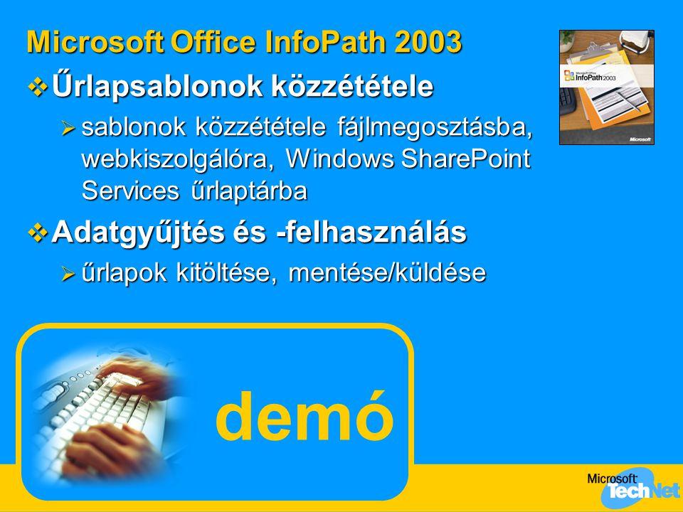 demó Microsoft Office InfoPath 2003 Űrlapsablonok közzététele