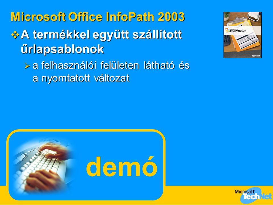 demó Microsoft Office InfoPath 2003