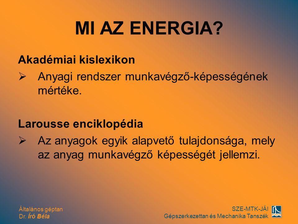 MI AZ ENERGIA Akadémiai kislexikon