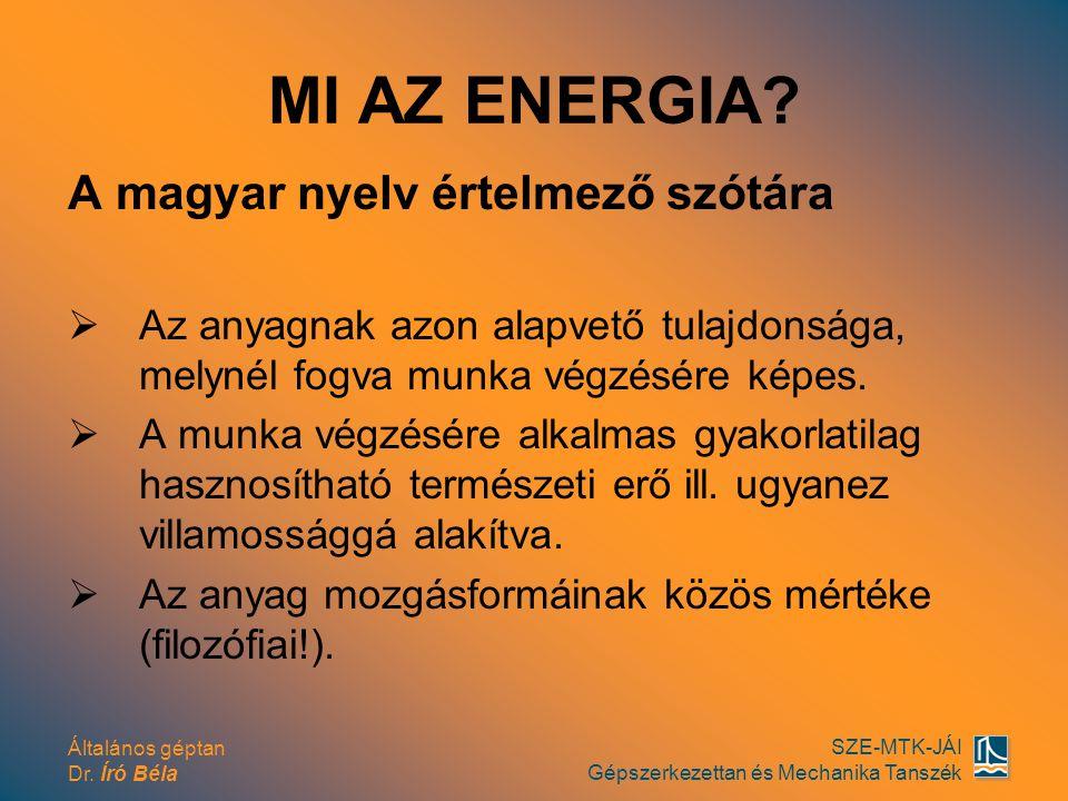 MI AZ ENERGIA A magyar nyelv értelmező szótára