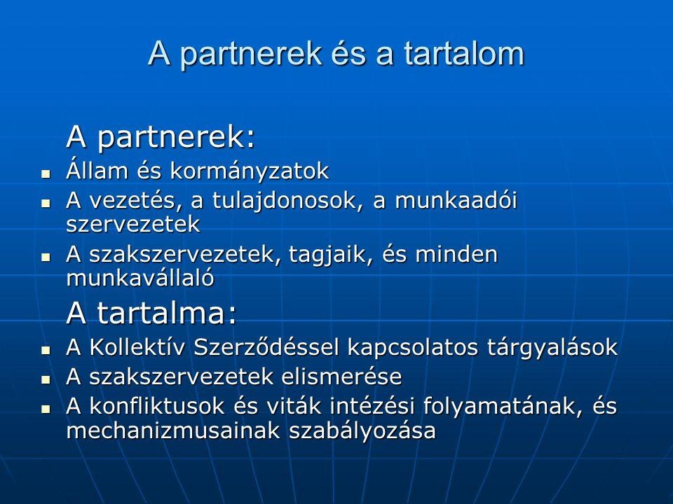 A partnerek és a tartalom
