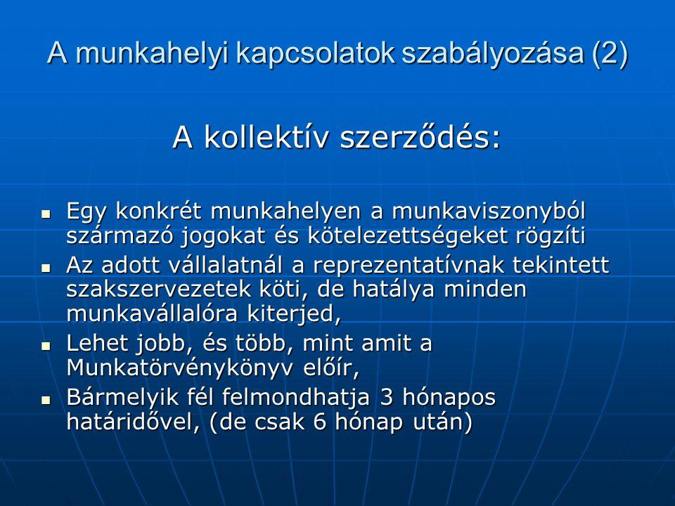 A munkahelyi kapcsolatok szabályozása (2)