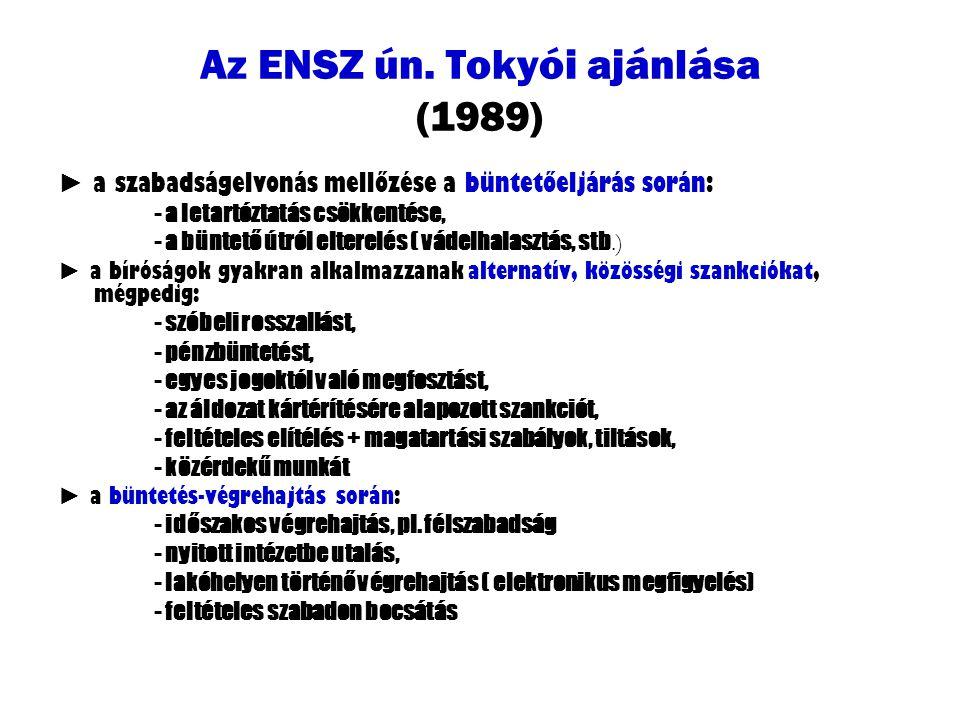 Az ENSZ ún. Tokyói ajánlása (1989)