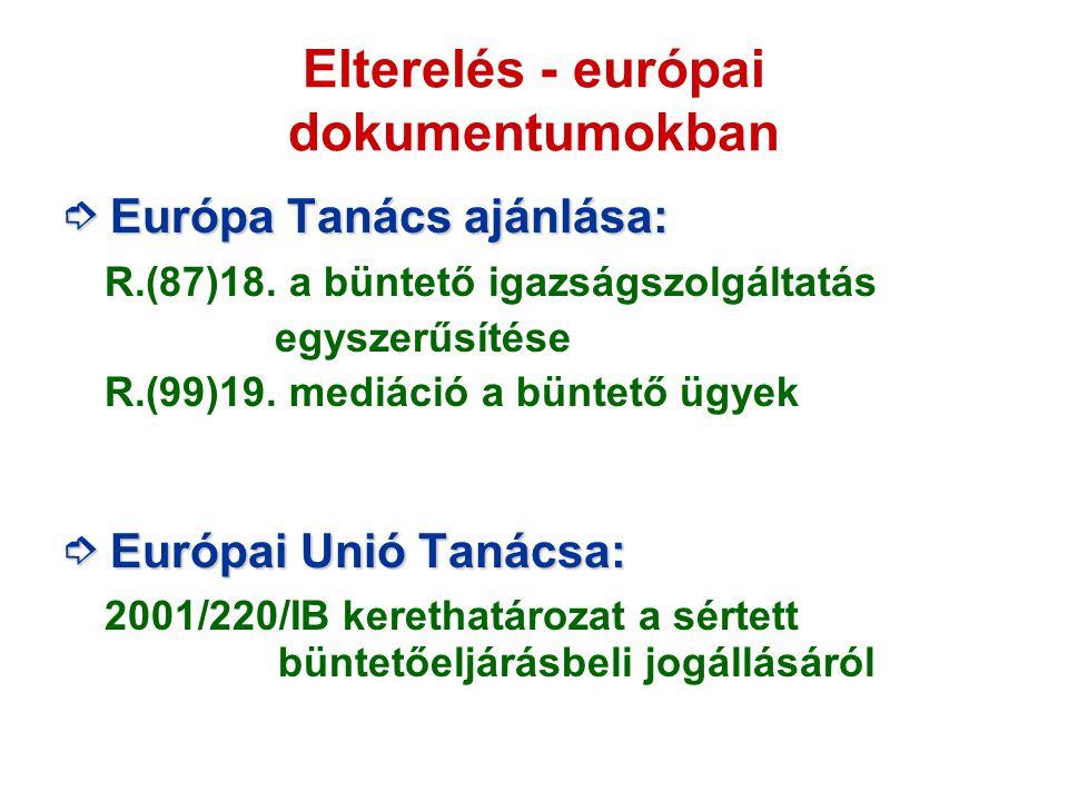 Elterelés - európai dokumentumokban
