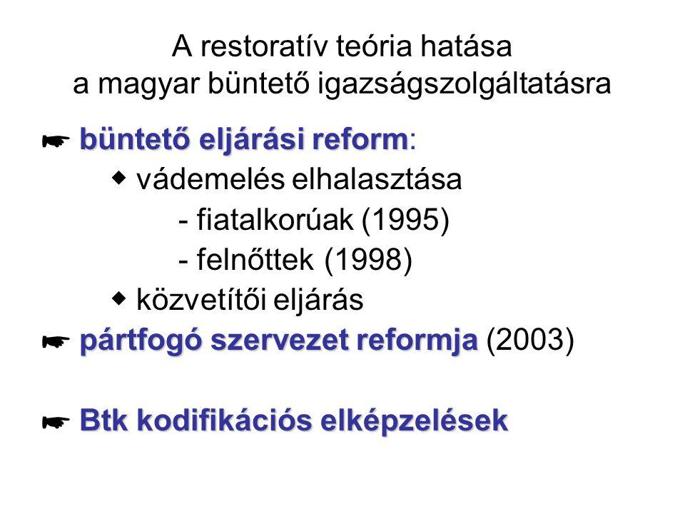 A restoratív teória hatása a magyar büntető igazságszolgáltatásra