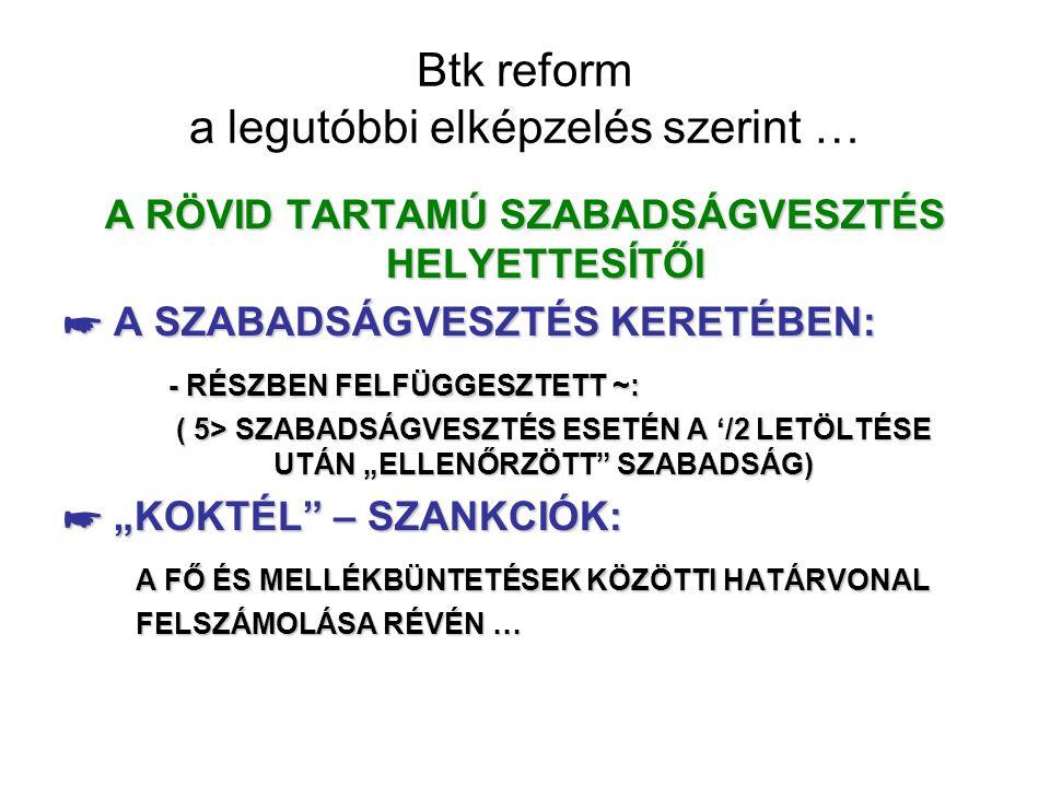 Btk reform a legutóbbi elképzelés szerint …