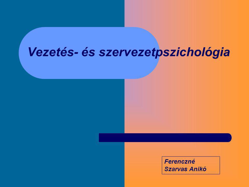 Vezetés- és szervezetpszichológia
